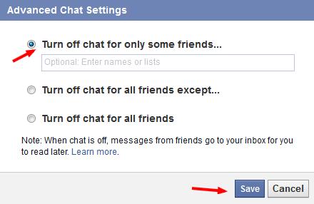 advanced chat setting