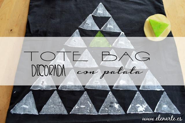 Decora tu tote bag con sellos de patata