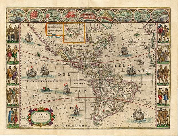 Америка древняя карта