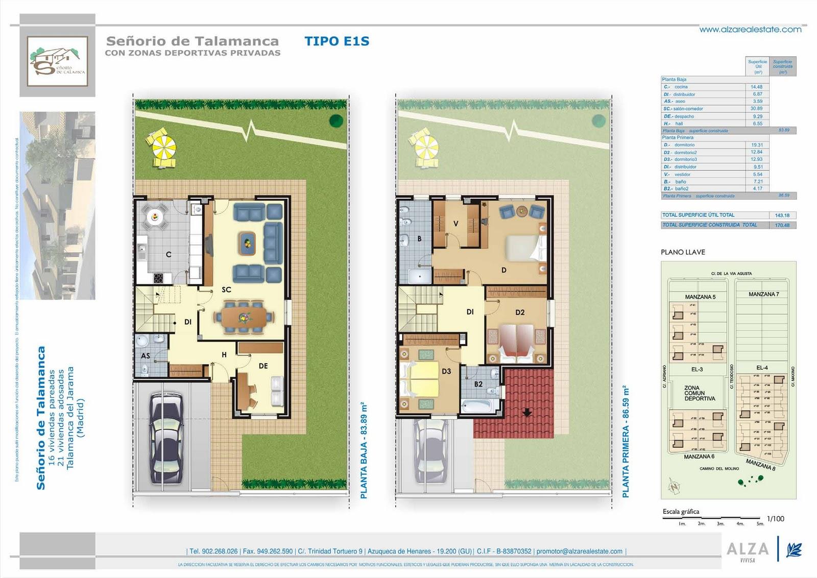 Grupo inmobiliario alza planos comerciales chalets en for Planos de chalets de lujo