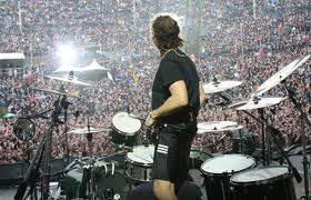 Metallica Lars Ulrich Tama Drums Zildjian Cymbals Iron Cobra Double Bass Pedals Ahead Drumsticksand The Beat Goes On Long Live Mighty