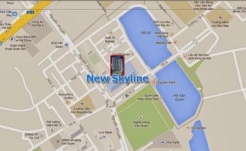 Vị trí cư xá New Skyline Văn Quán