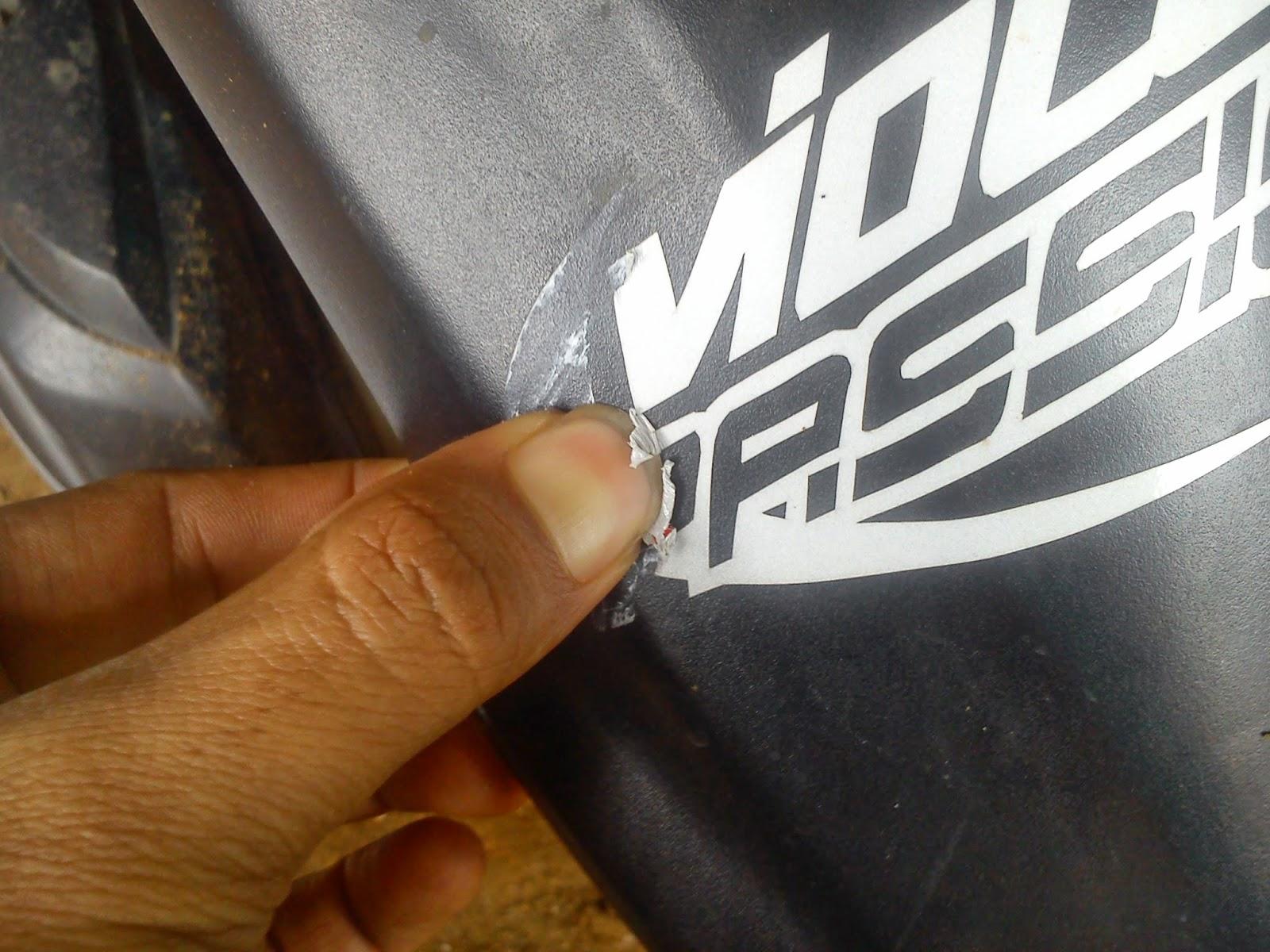 violetsticker: cara mudah melepas sticker cutting yang sudah menempel