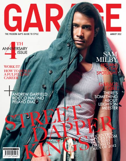 Sam Milby Covers Garage Magazine August 2012 4th Anniversary issue