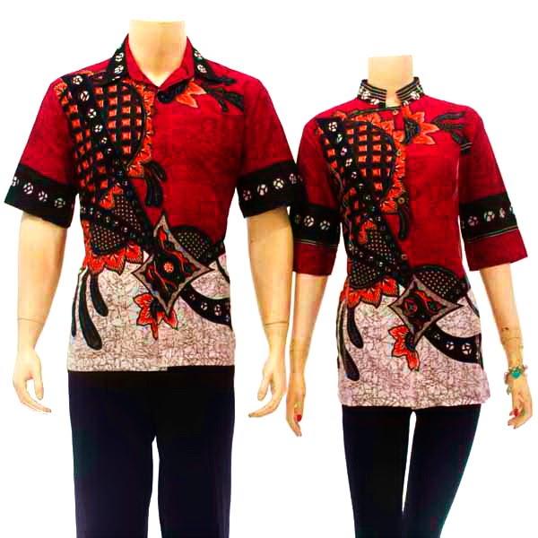 Model desain gambar model baju batik wanita modern terbaru Gambar baju gamis batik wanita