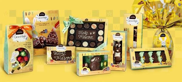 chocolates Cacau Show Páscoa linha Cacau Magia