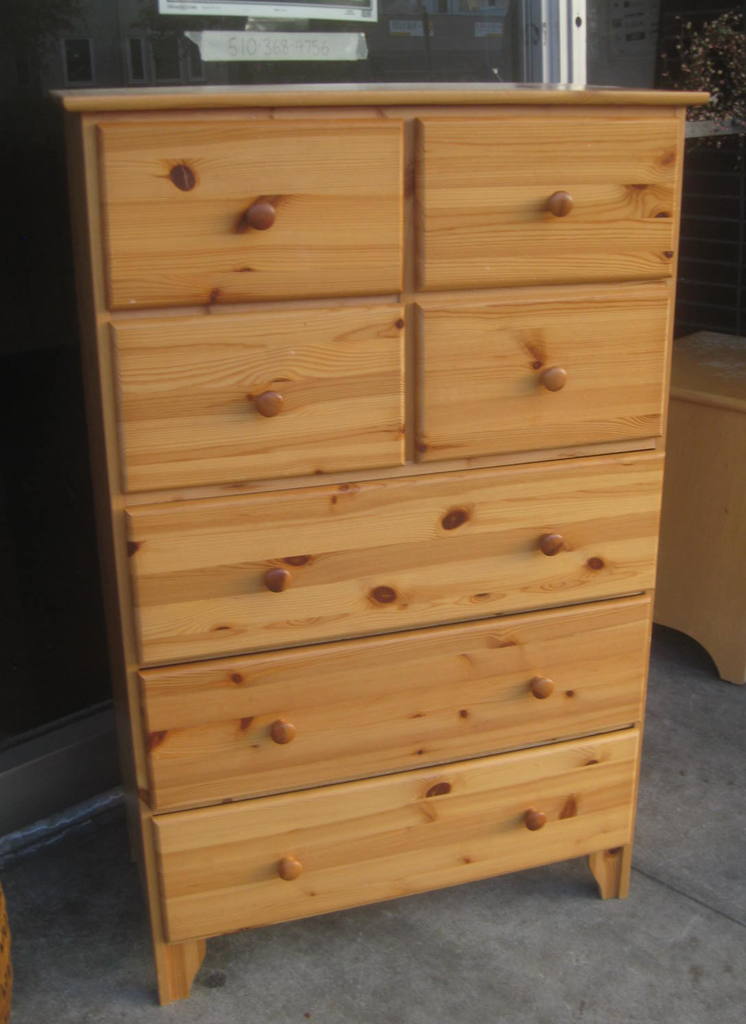 UHURU FURNITURE & COLLECTIBLES: SOLD Knotty Pine Dresser - $100