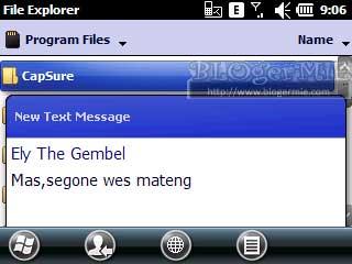 Tampilan Notif SMS Aspen Standar
