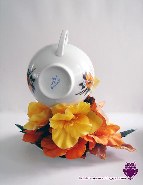 Flying tea cup