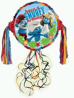 Piñatas de Pitufos para Fiestas Infantiles