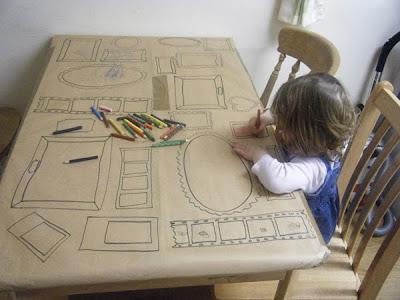 papel kraft para dibujar