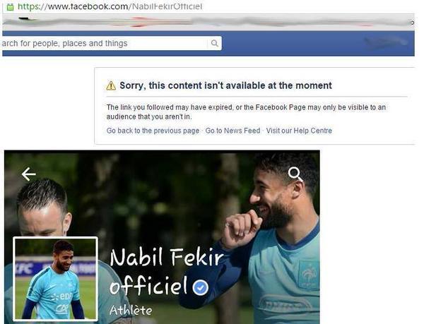 Nabil Fekir bloque sa page Facebook en Algérie