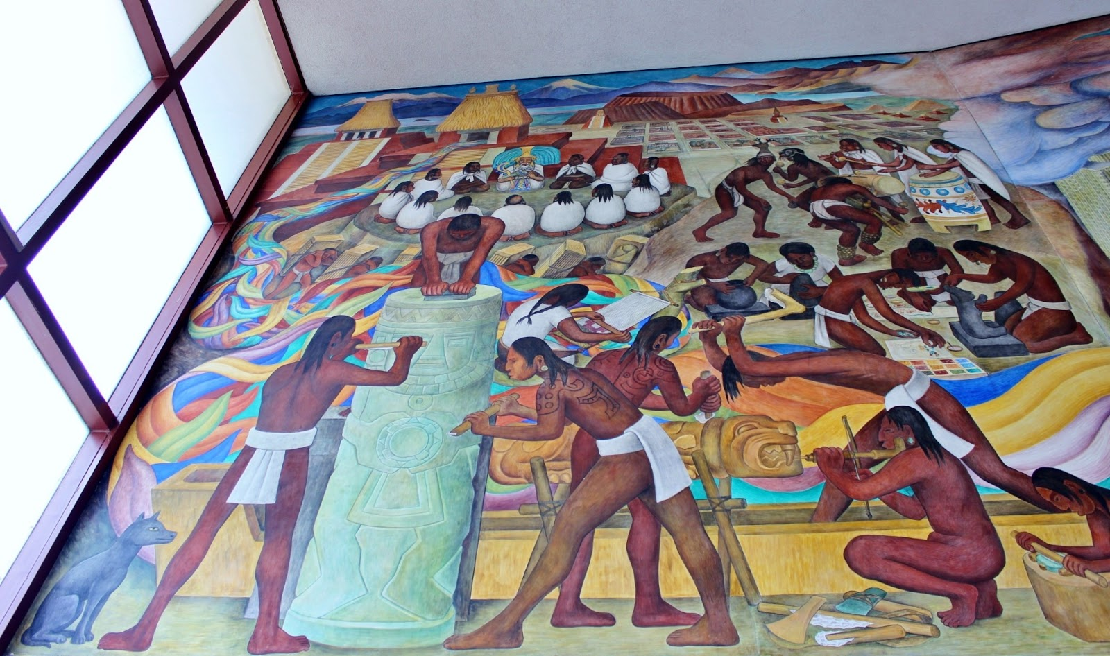 Bay area arts diego rivera 39 s pan american unity mural for Diego rivera mural san francisco art institute