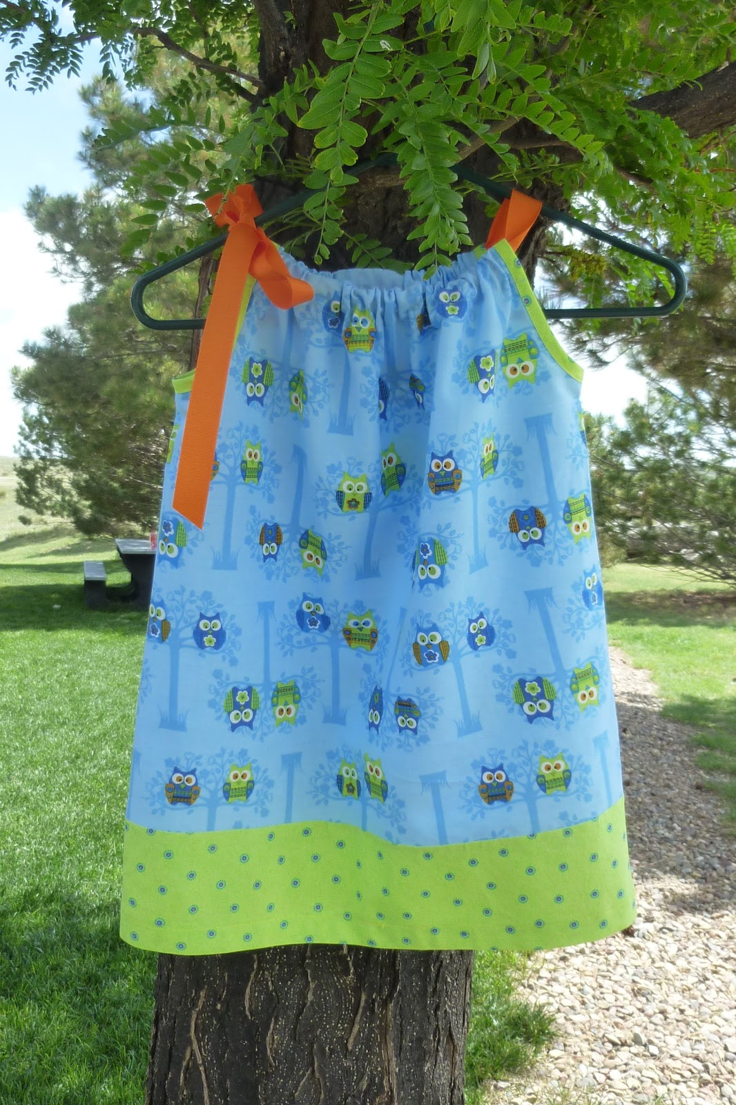 Sew God s Grace: Cute as a Hoot Pillowcase Dress