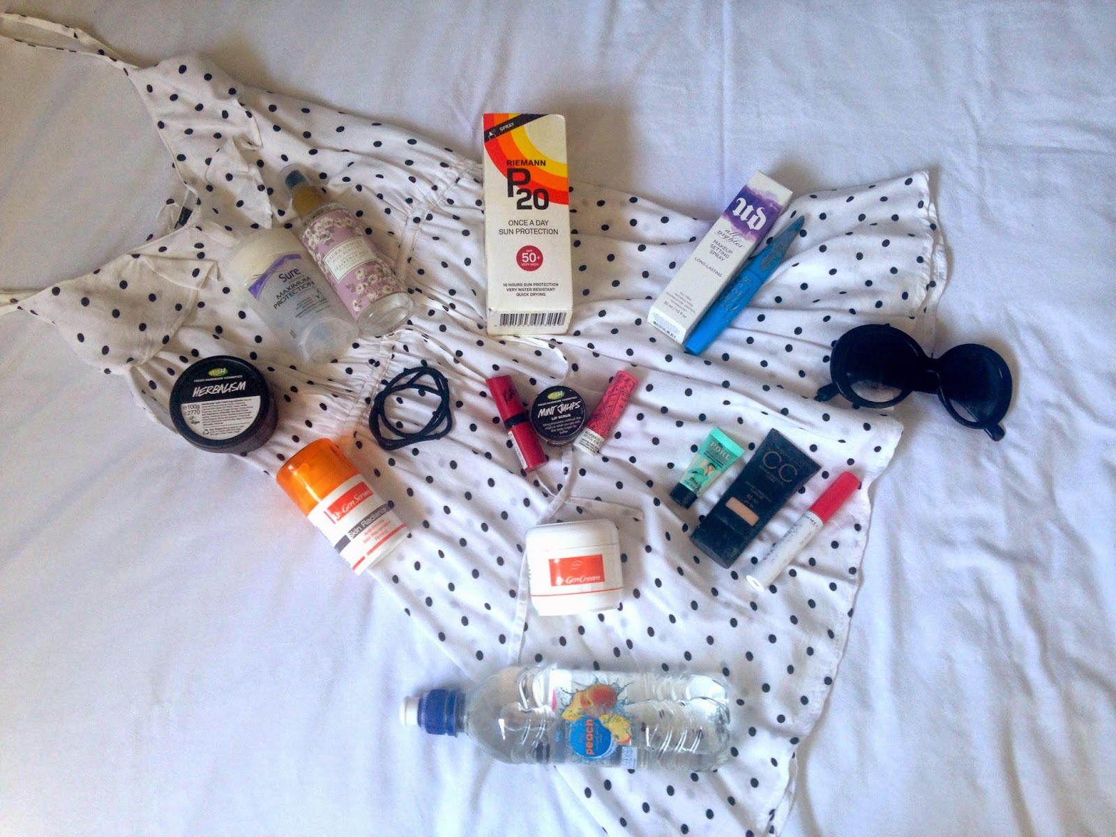 A photograph of my summer fashion, beauty and lifestyle essentials