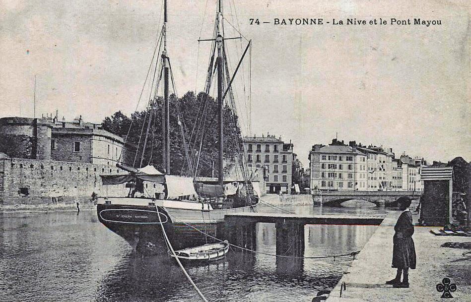 Pays Basque 1900: Le pont Mayou à Bayonne