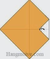 Bước 2: Gấp góc giấy ra ngoài