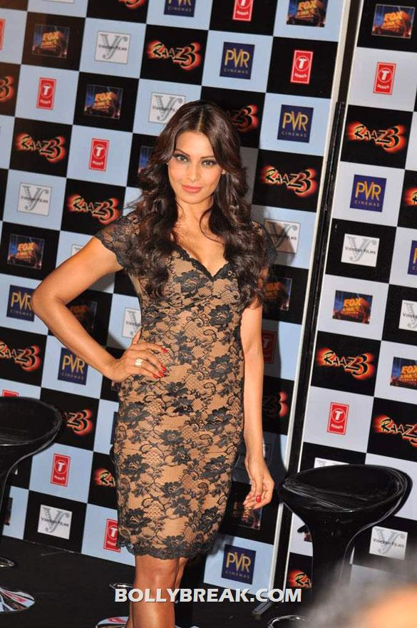 Bipasha Basu - Bipasha Basu Looking Hotin Black dress at First trailer launch of 'Raaz 3'