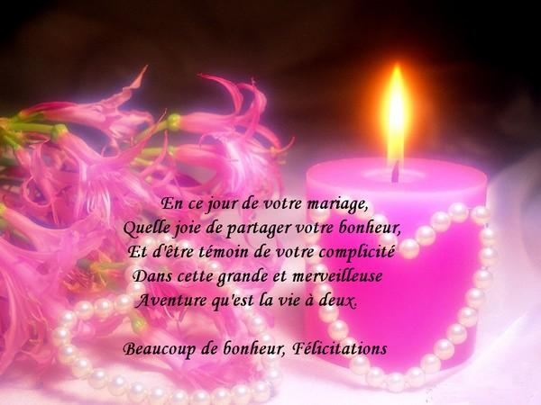 en ce jour de votre mariage - Texte De Felicitation De Mariage