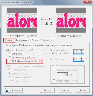 Optimizar Exportar Imágenes en Paint Shop Pro 7