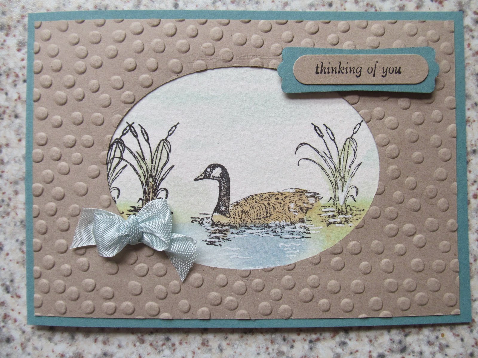 Stampin Up Moon Lake Card class Jemini Crafts
