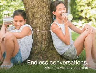 Aircel Launches Unlimited Morning Aircel- Aircel Voice Calling Pack Activation @ Re.1 - Nov 2015