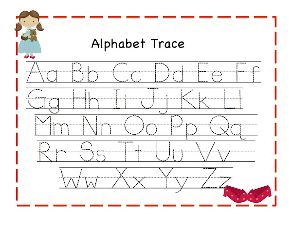 Free Worksheets » Lowercase Alphabet Tracing Worksheet - Free ...