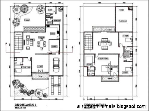 denah rumah minimalis modern 2