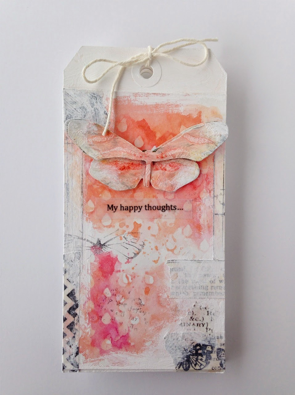 Tim's 12 Tags of 2014 - Mixed Media Watercolor Tag