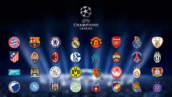 Champions League 2013 Team List