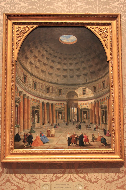 Interior of the Pantheon, Rome by GIOVANNI PAOLO PANINI in National Gallery of Art in Washington DC, USA