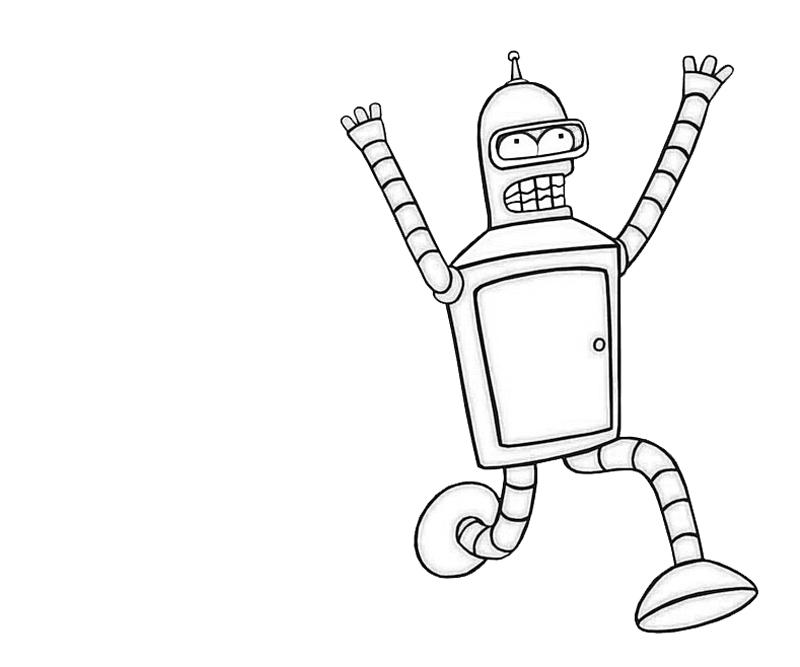printable-bender-relax_coloring-pages