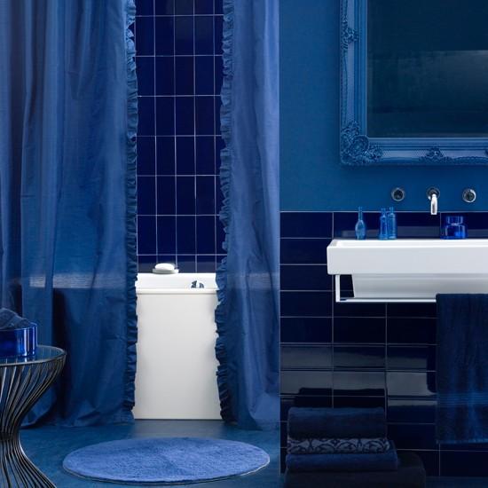 Decorar Un Baño Azul:Todo al azul