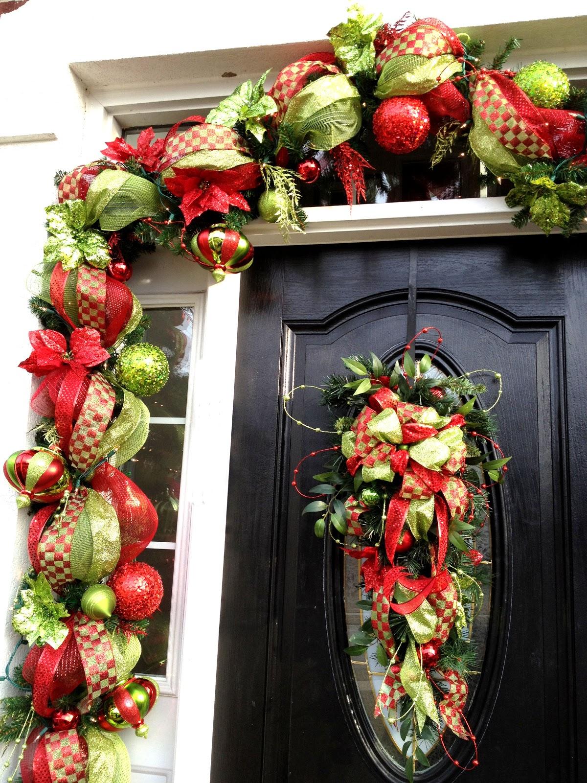 Front door deco mesh christmas decorations - An Error Occurred