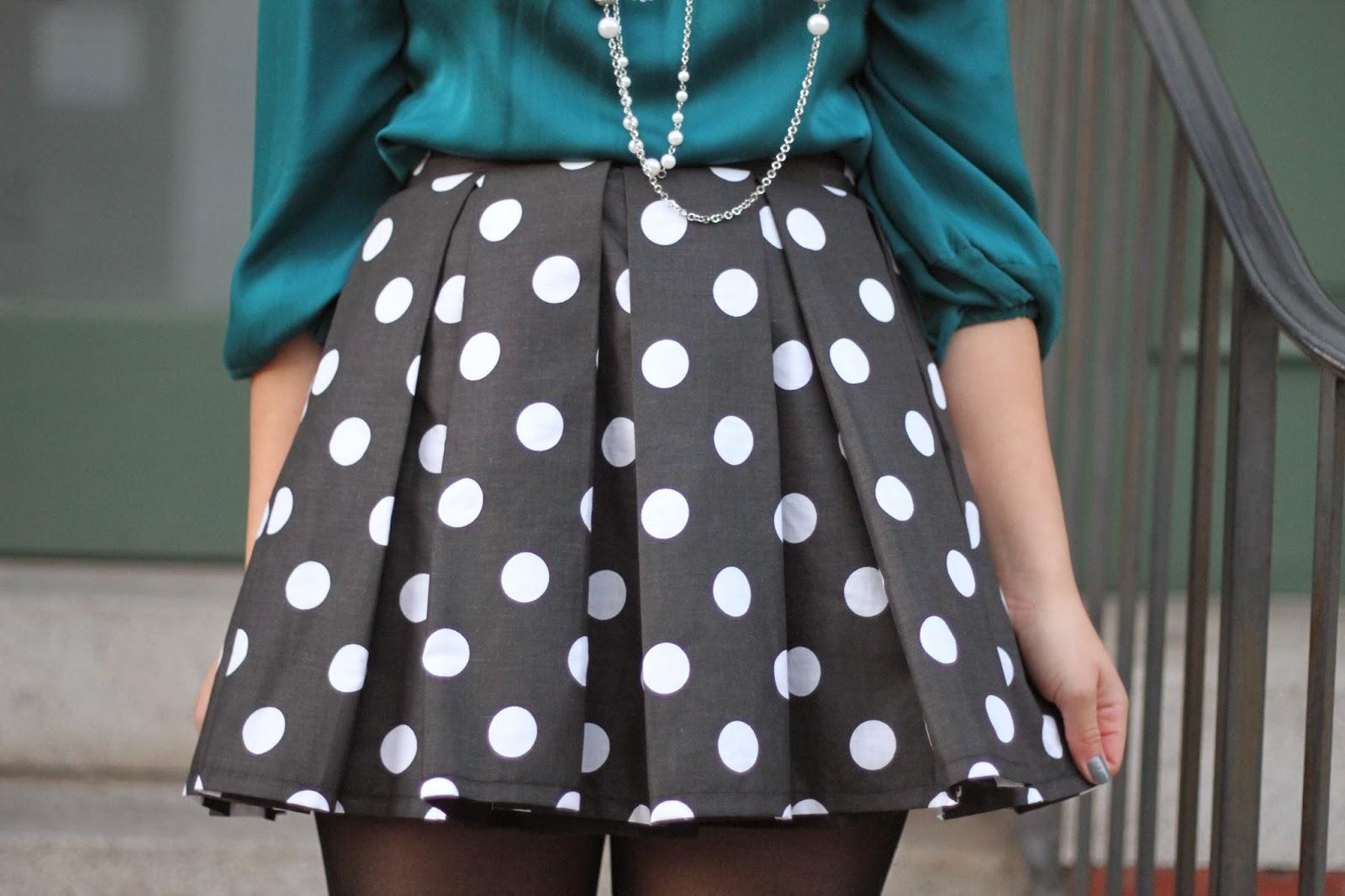 KTR Collection Polka Dot Skirt