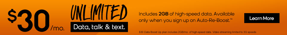 Unlimited Talk, Text and Data for $30 a Month Plus a $25 Account Credit for Using the Referral Link