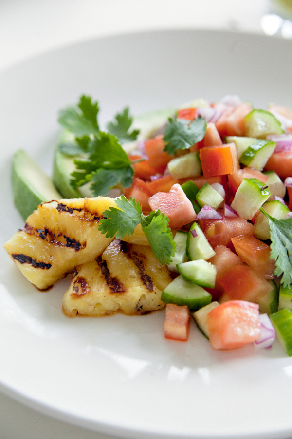 Grilled Jerk Chicken & Grilled Pineapple Chunks