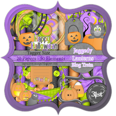 "Scrapbook Freebie papers ""Jaggedy Lanterns"" by capricious"