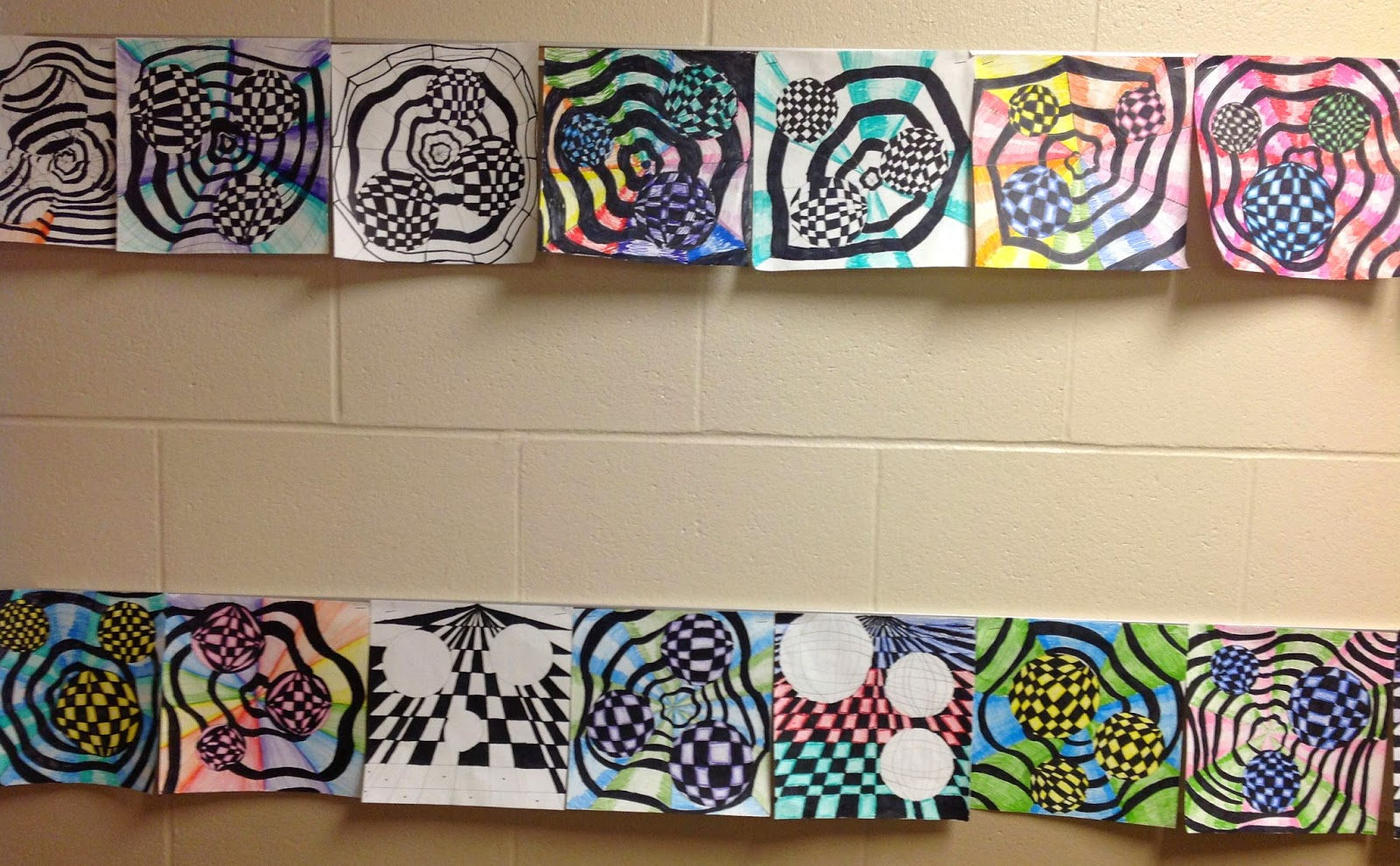 5th Grade Optical Illusion Art Drawing Lesson