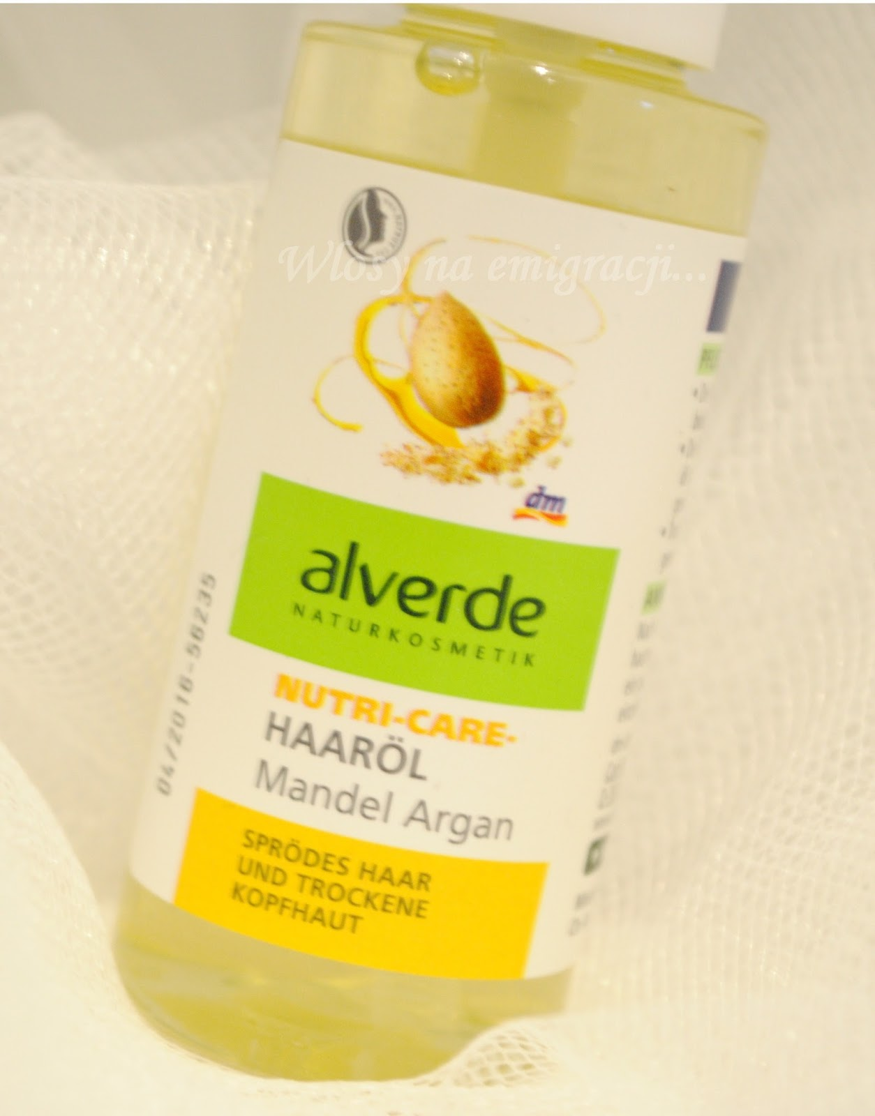 Alverde, olejek migdalowo arganowy.