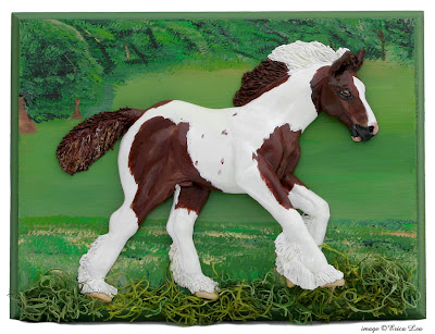 gypsy vanner foal, horse sculpture