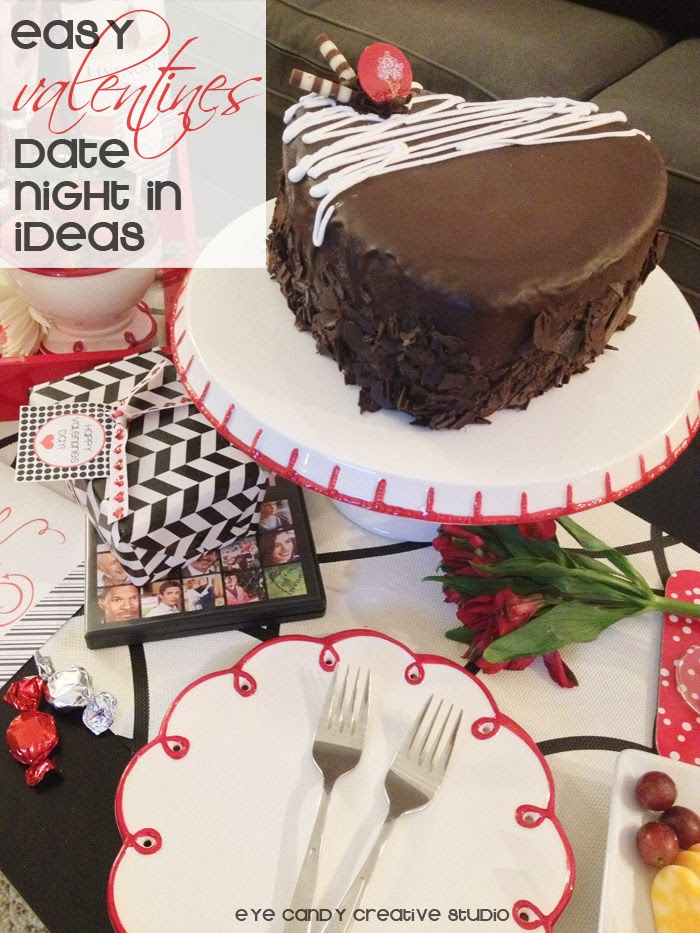 easy valentines date ideas, date night in, ice cream cake, cold stone creamery