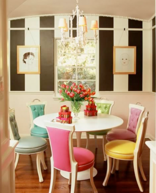 wunderkammer-inspiration*: Rainbow chairs // Regenbogen Stühle ...