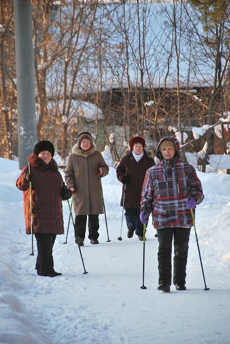 Скандинавская ходьба в парке Лысьвы
