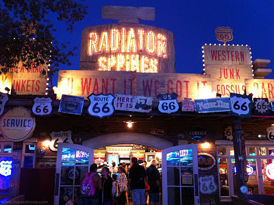 Cars Land Lizzie Radiator Springs Curios Curios shop night