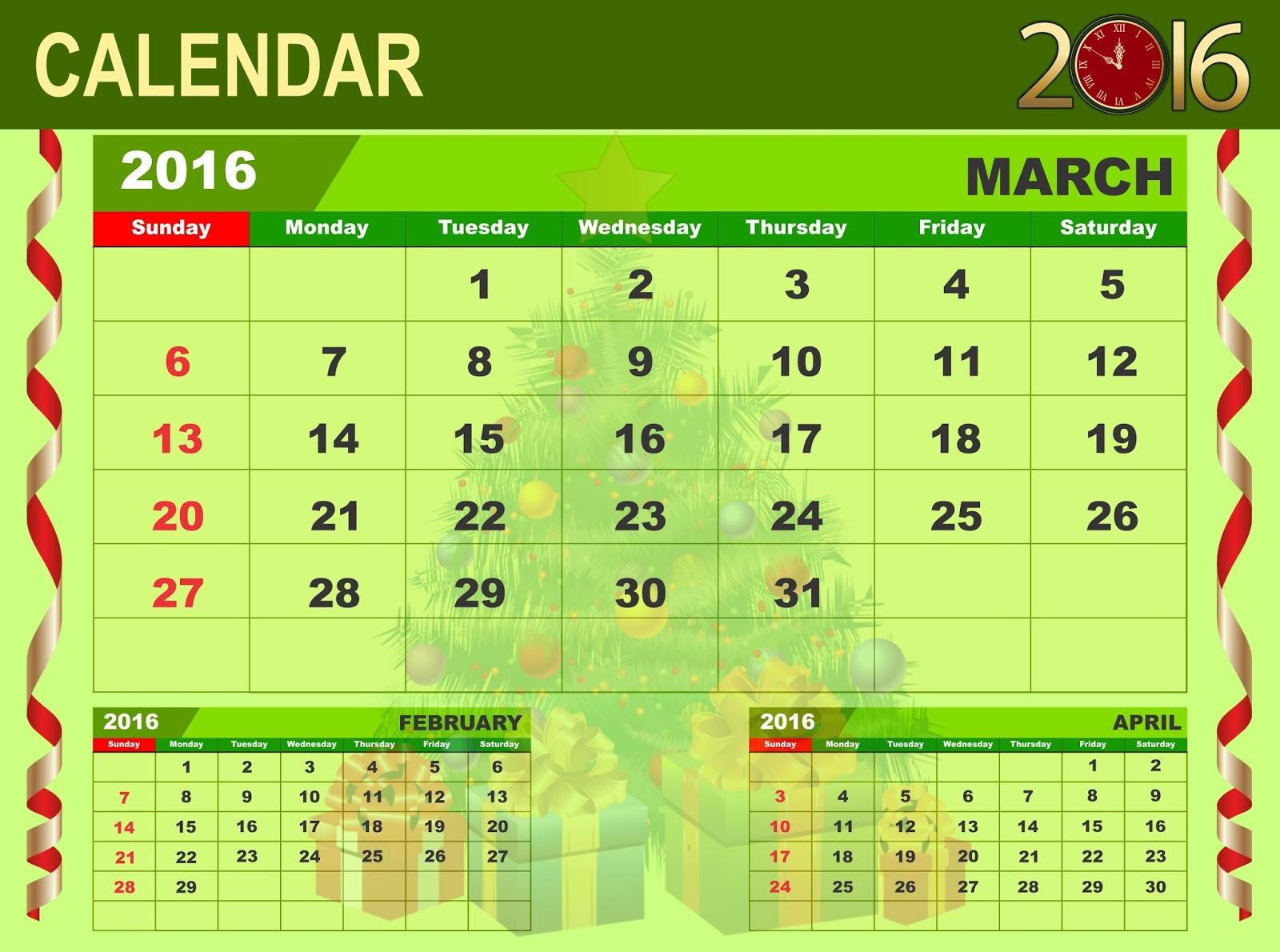 Calendar Green : Calendar green happy new year