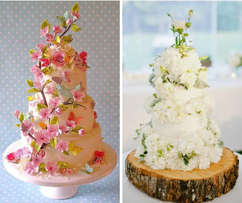 цветни сватбени торти