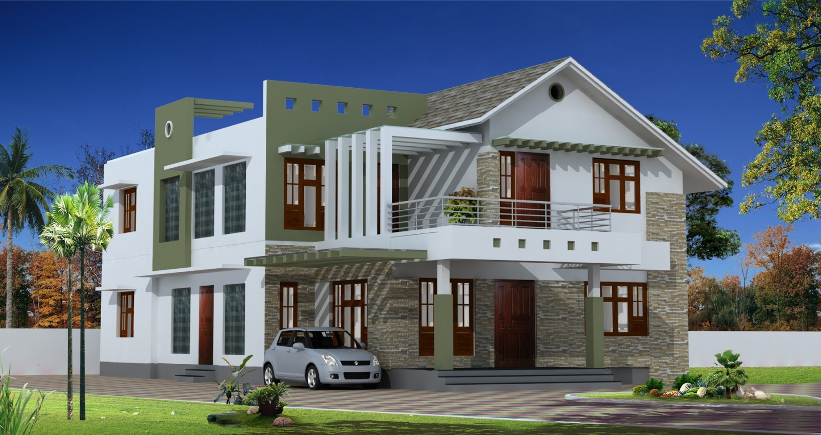 Latest home designs original home designs for Home design exterior ideas in india