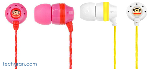Skullcanday INK'd Paul Frank Earbuds