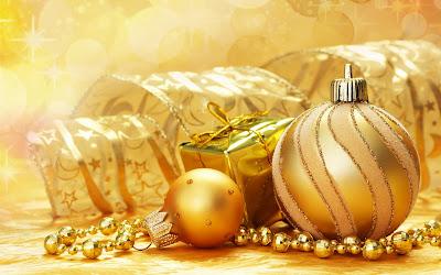 Wallpaper de esferas para Navidad - Christmas spheres